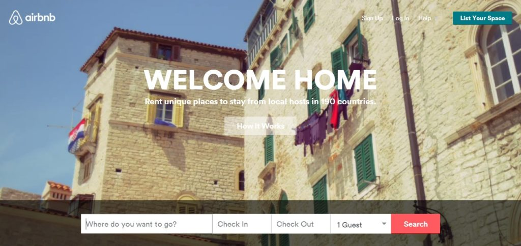 AirBnB accepteert American Express Creditcards