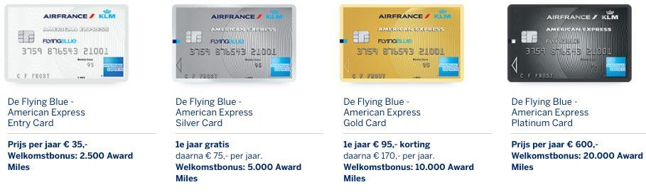 De verschillende American Express kaarten