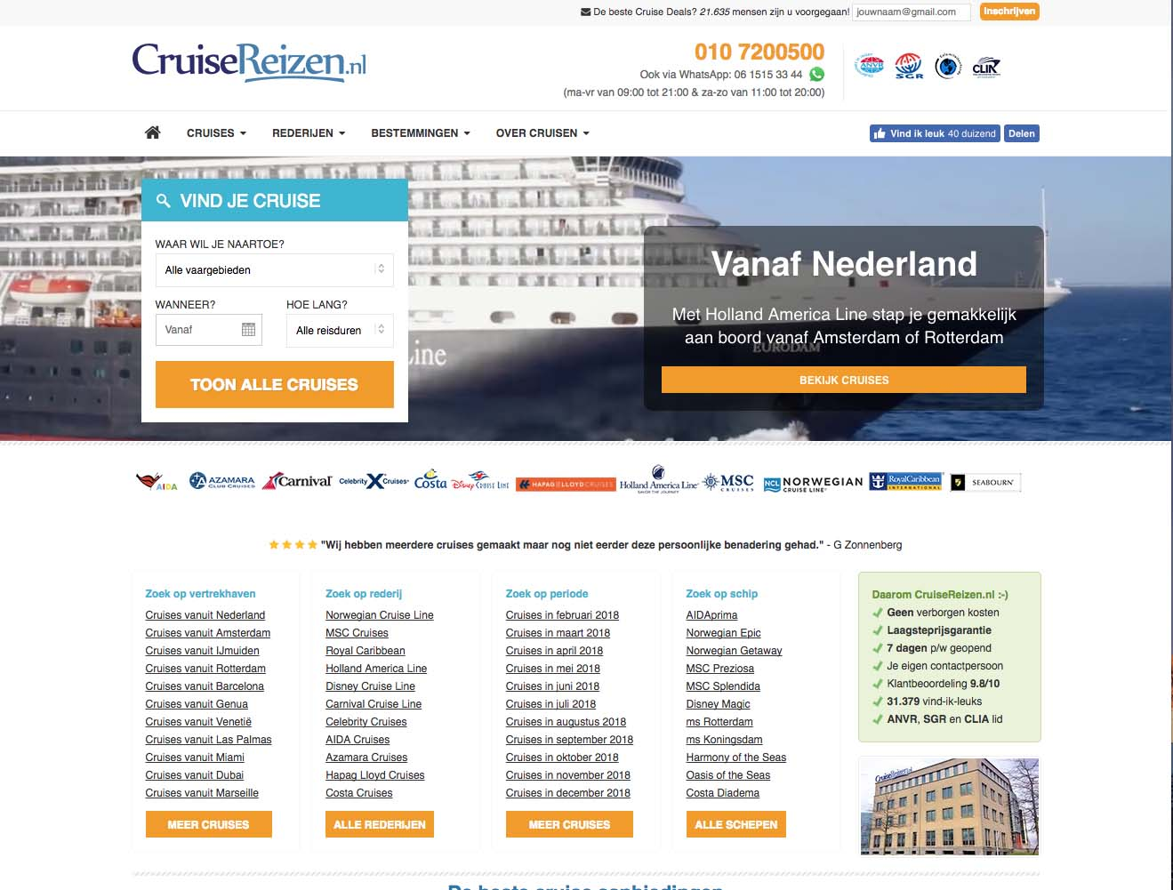 Cruisereizen accepteert american express creditcards2