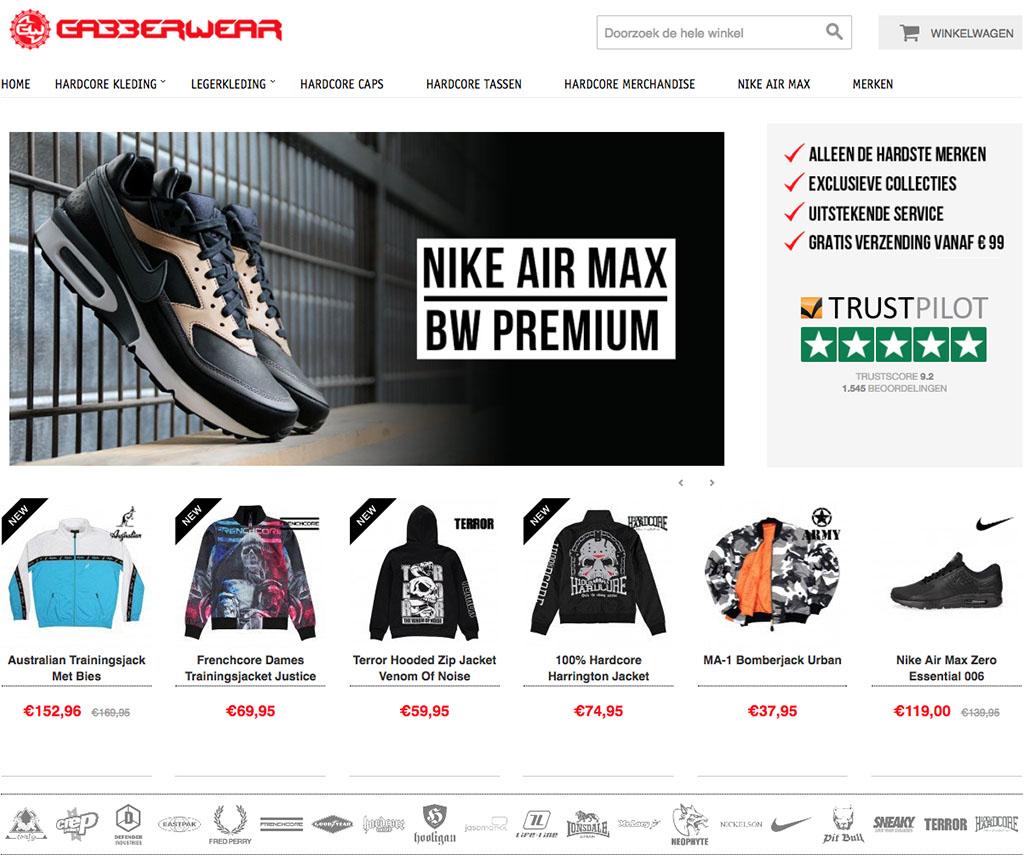 Gabberwear accepteert american express creditcards1