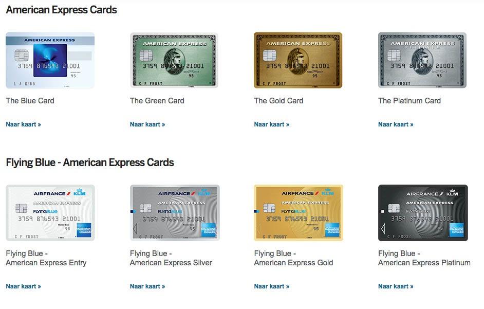 Verzekeringen van American Express creditcards1