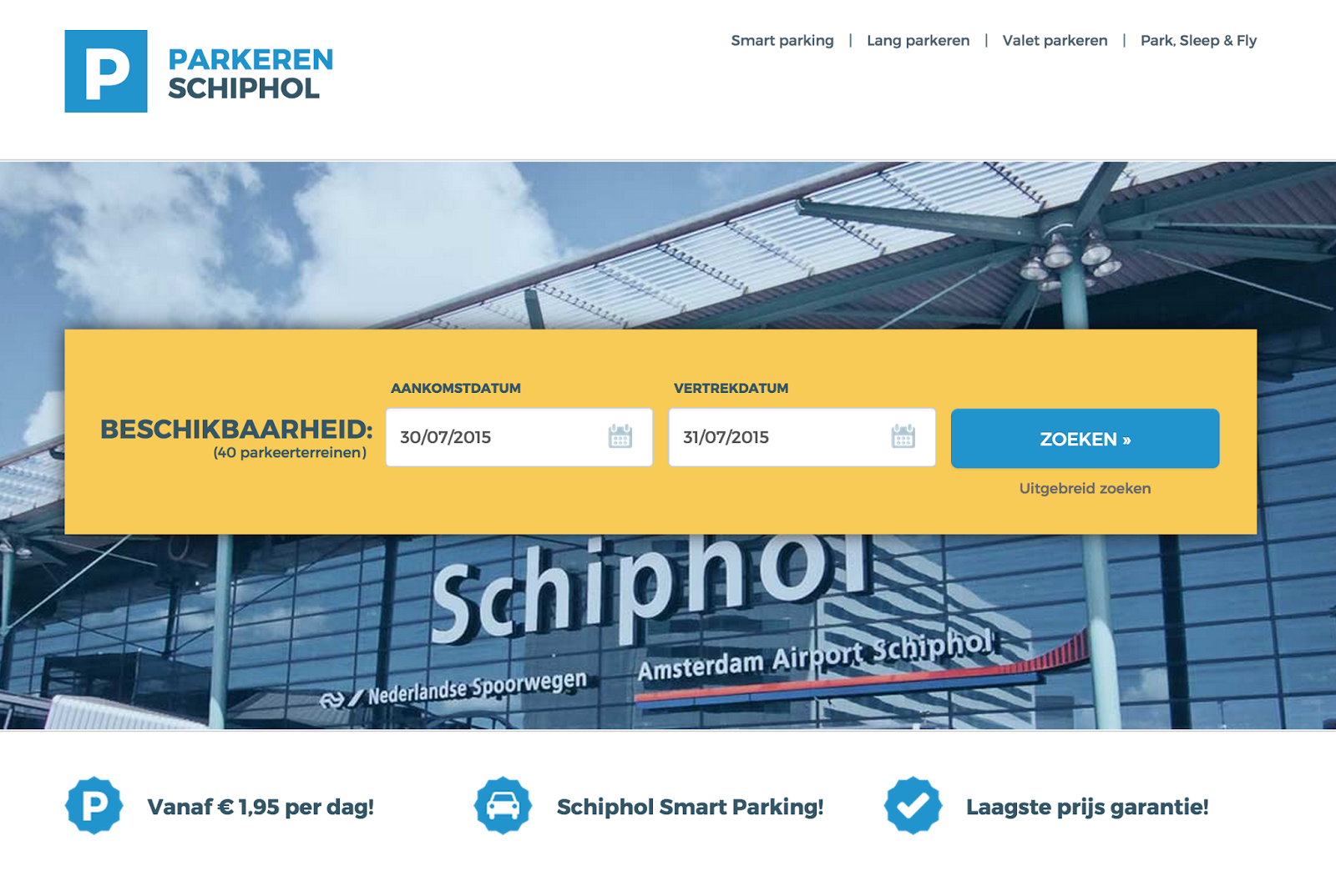 Parking Schiphol Amsterdam accepteert American Express Credit Cards